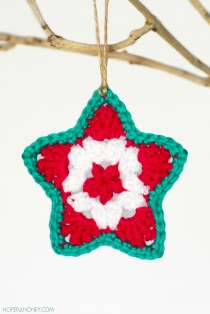 Star Christmas Ornament Crochet Pattern 4