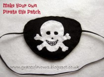 Make your own Felt Pirate Eye Patch Tutorial DIY How To by Grace's Favours