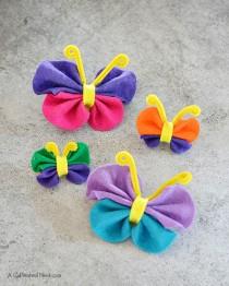 Easy-no-sew-felt-butterfly-craft