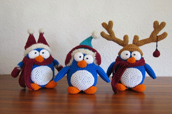 Kerst Pinguins Amigurumi Freubelweb