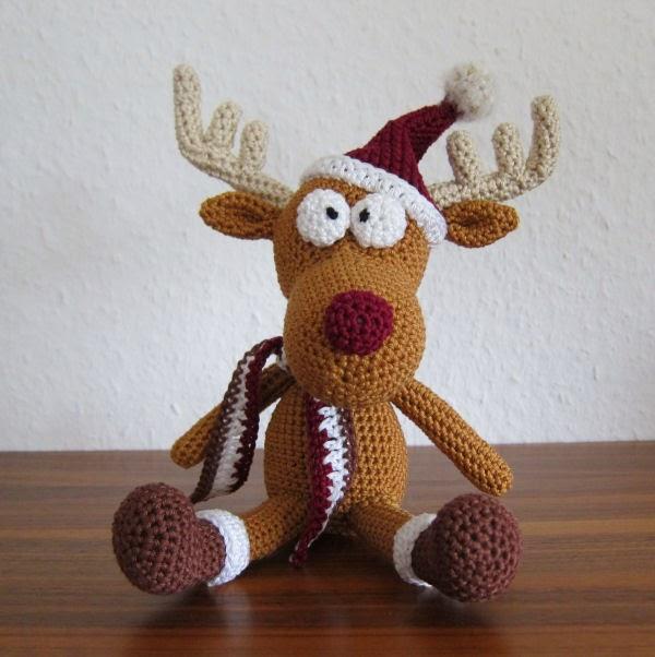 Rudy Reindeer Amigurumi : Rendier Rudolf Amigurumi : Freubelweb