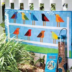 Zelf maken met stof vogel quilt freubelweb freubelweb for Quilt maken met naaimachine