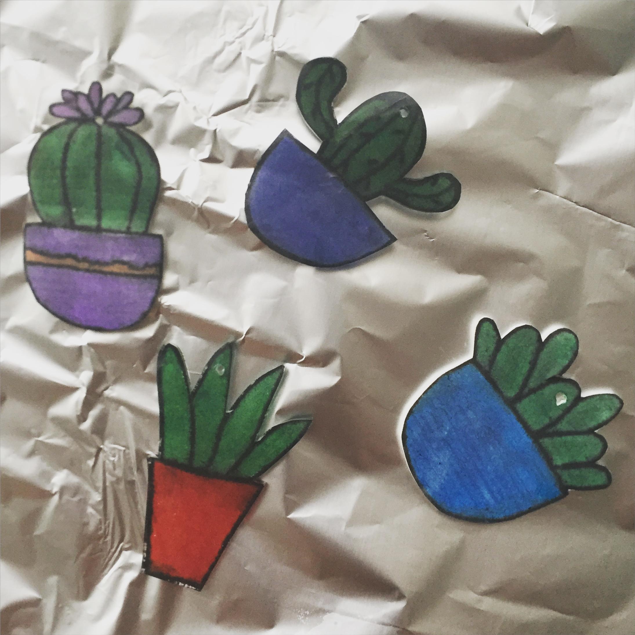 cactus_hanger_aluminiumfolie