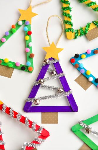 Zelf Maken Met Houten Stokjes Kerstboompjes Freubelweb