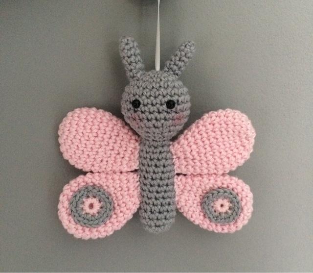 gratis haakpatroon: vlinder - freubelweb :freubelweb