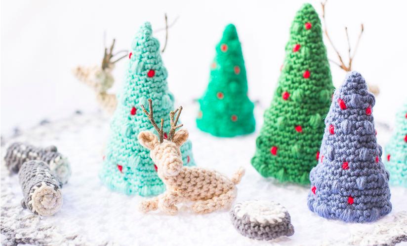 Gratis Haakpatroon Hert En Kerstbomen Freubelweb Freubelweb