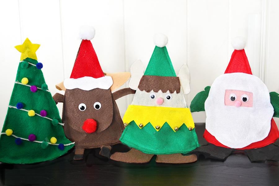 Zelf Maken Met Vilt Kerst Snoepzakjes Freubelweb Freubelweb
