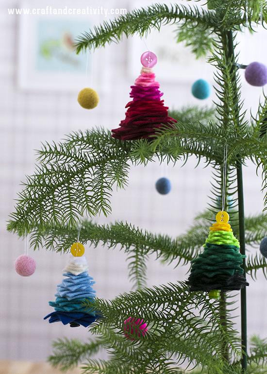 Zelf Maken Met Vilt Kerstboom Hangers Freubelweb Freubelweb