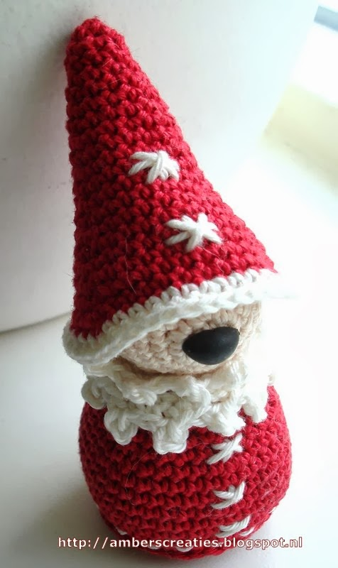Gratis Haakpatroon Mini Kerstman Freubelweb Freubelweb