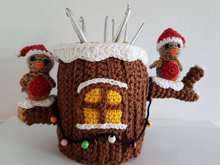 Gratis Haakpatroon Pennenbakje Kerst Freubelweb Freubelweb