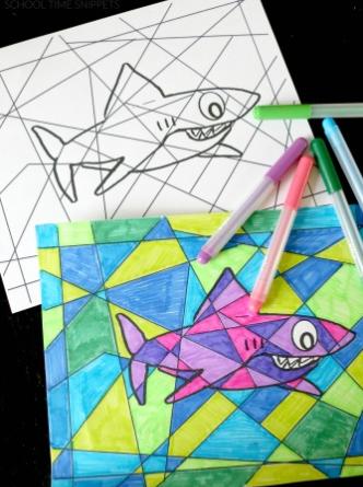 Kleurplaat Haai Freubelweb Freubelweb