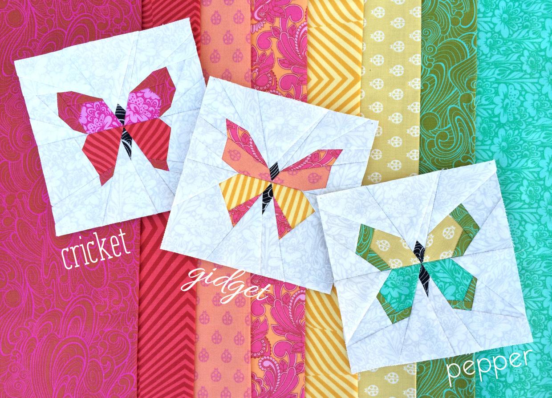 Gratis Paper Piecing Patronen.Zelf Maken Met Stof Vlinders Freubelweb Freubelweb