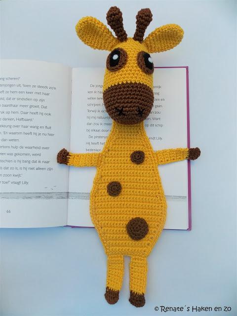 Gratis Haakpatroon Boekenlegger Giraffe Freubelweb Freubelweb