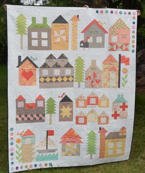 Zelf maken met stof huisjes quilt freubelweb freubelweb for Quilt maken met naaimachine