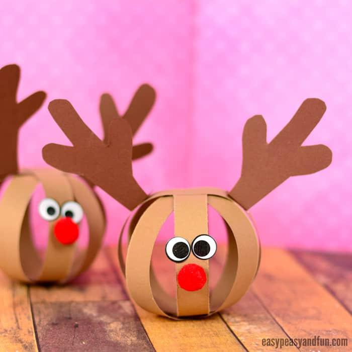 Zelf Maken Met Papier Rendier Kerstbal Freubelweb