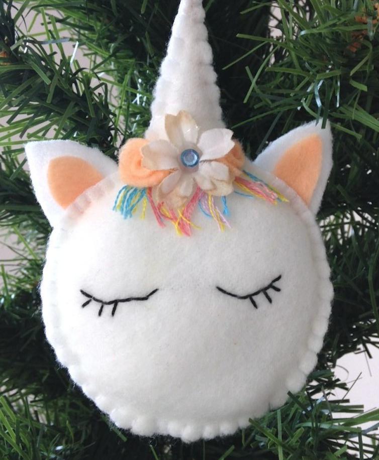 Eenhoorn Vilt Kerstboom Freubelweb Freubelweb