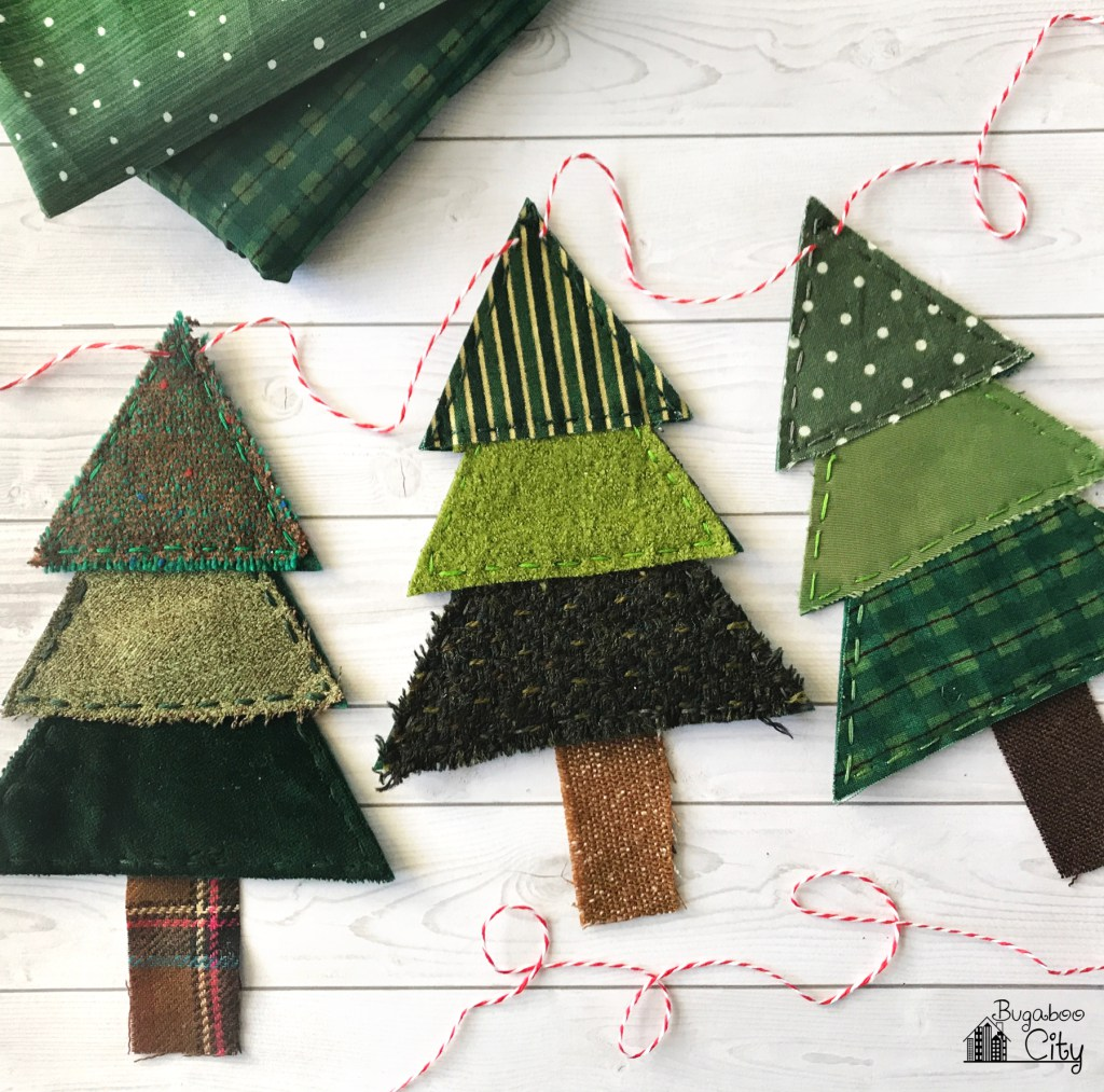 Zelf Maken Met Stof Kerstboom Slinger Freubelweb Freubelweb