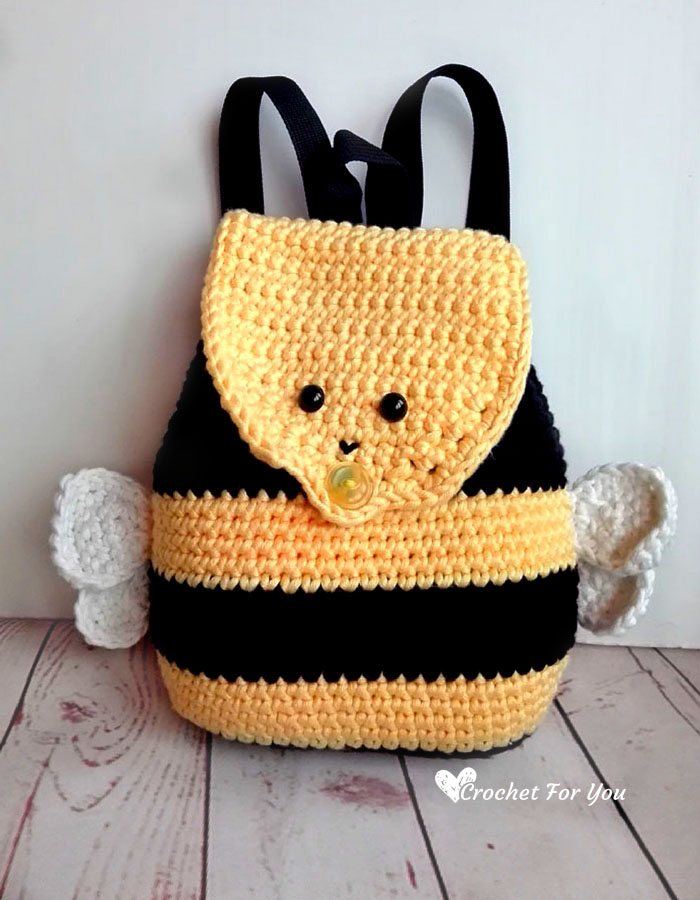 f40958fe5ac Klik hier voor het gratis haakpatroon van Crochet for You om deze leuke  rugzak bij te maken