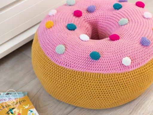 Gratis Haakpatroon Donut Zitkussen Freubelweb Freubelweb