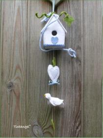 vogel met huisje