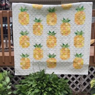 Zelf maken met stof ananas quilt freubelweb freubelweb for Quilt maken met naaimachine