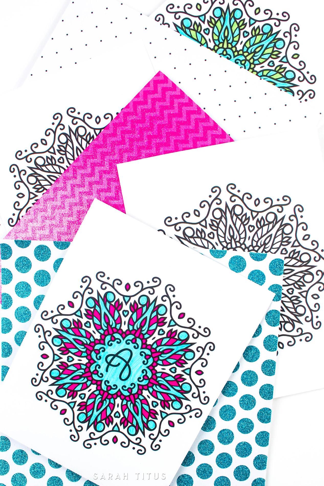 gratis printable monogram kleurplaat freubelweb freubelweb