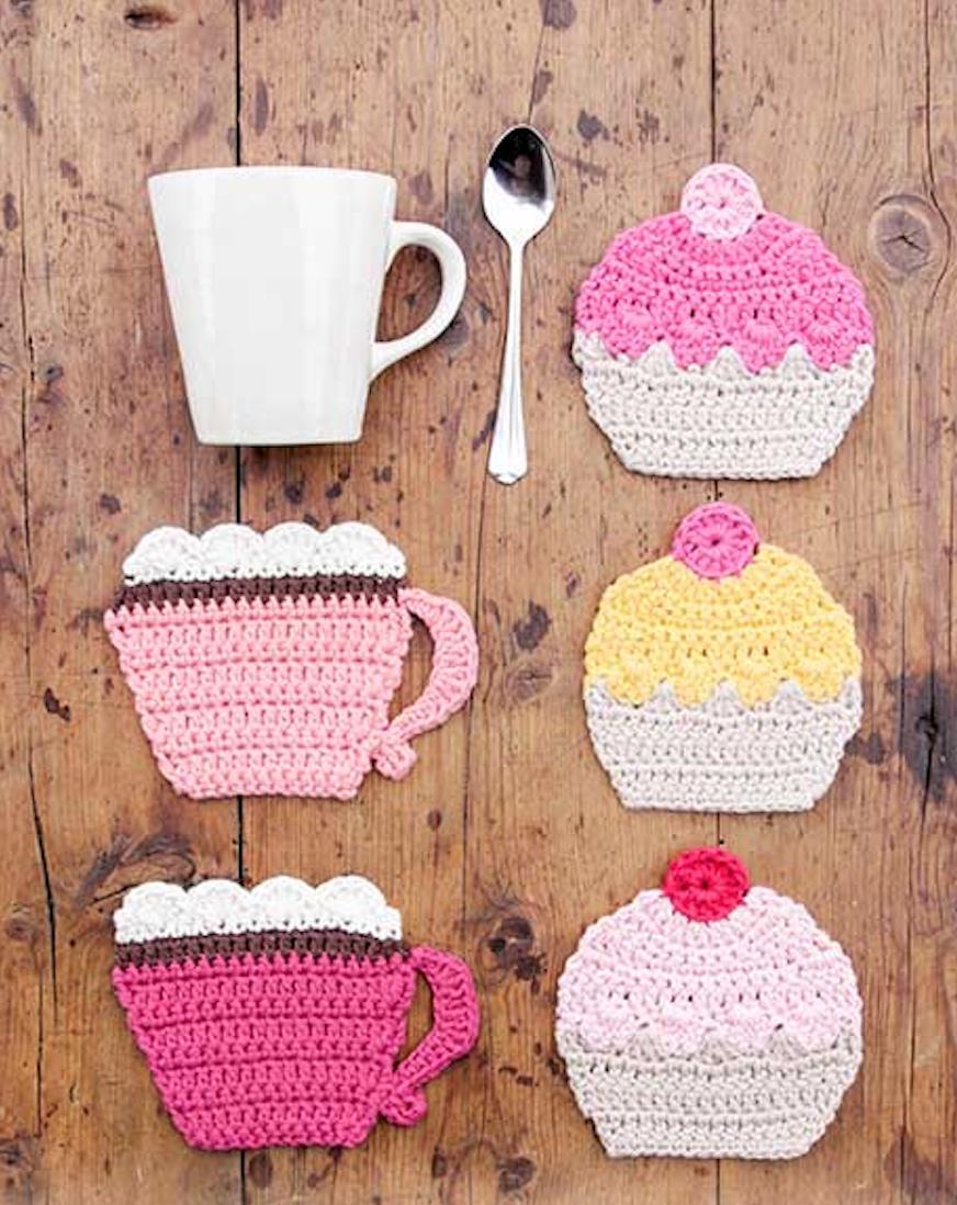 Gratis Haakpatroon Koffie En Cupcake Onderzetters Freubelweb
