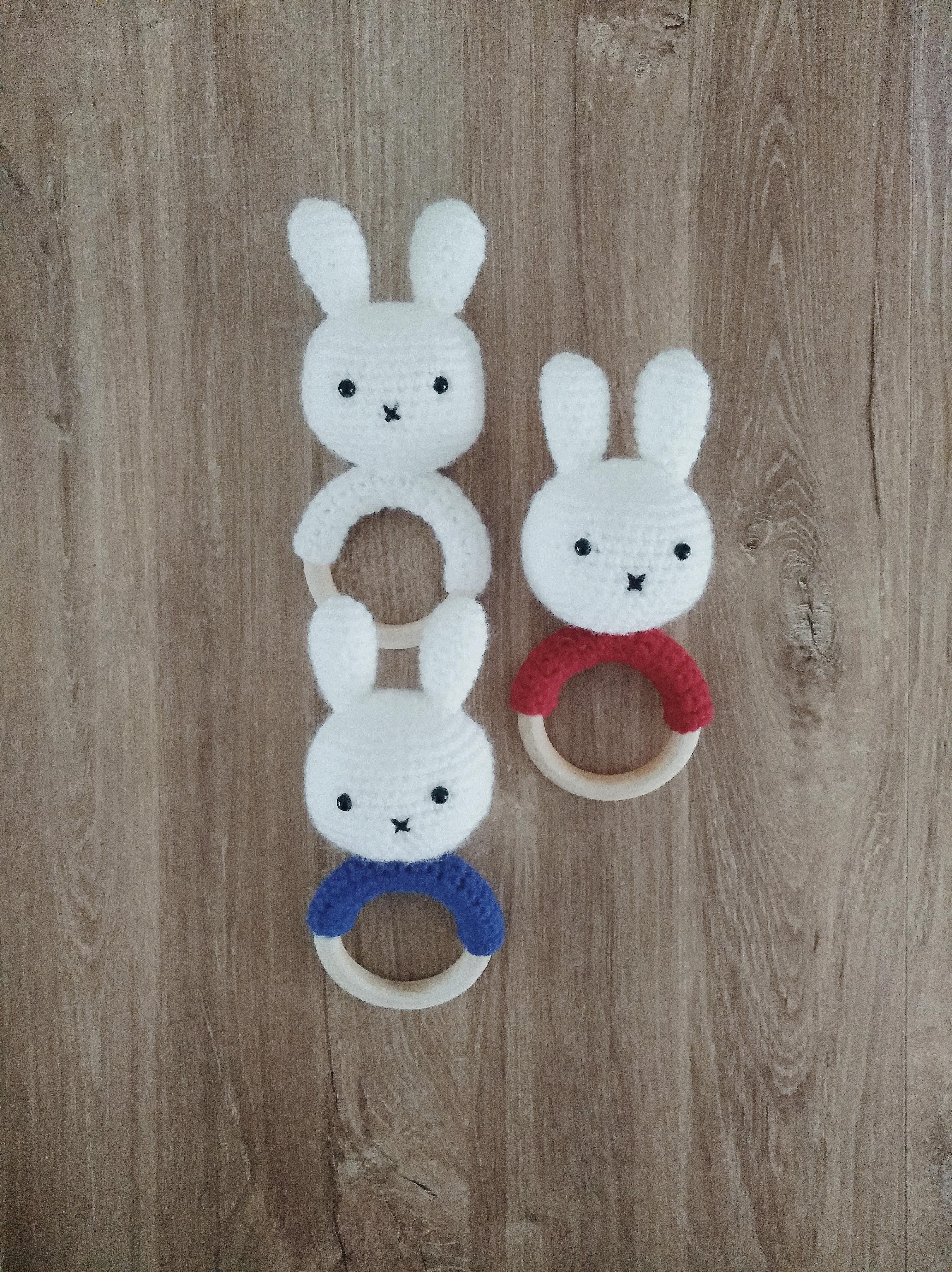 Bunny Theeter Pattern Konijntje Bijtring Patroon Freubelweb