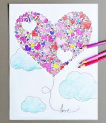 Valentijn kleurplaat