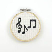borduurpatroon muzieknoten