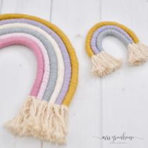regenboog van touw en garen