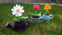 gieter met bloemenpen
