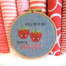 borduurpatroon aardbeien
