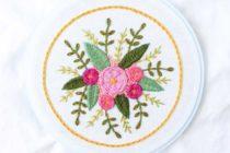 borduurpatroon bloemen
