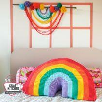 regenboog kussen