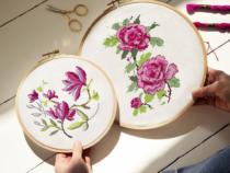 bloemen borduurpatroon