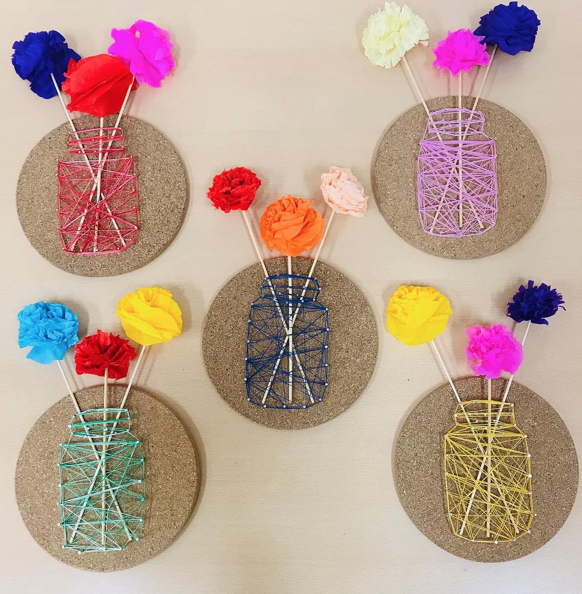 bloemenvaasjes maken