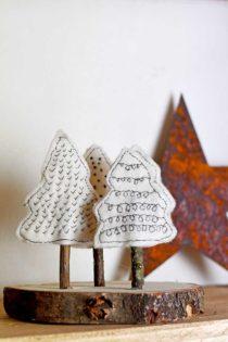 kerstboompjes van vilt