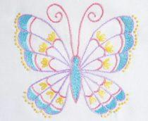 borduurpatroon vlinder