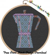 borduurpatroon koffiepot