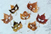 Maskers van herfstbladeren