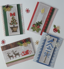 gratis borduurpatroon kerstkaarten
