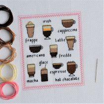 borduurpatroon koffiesoorten