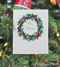 kerstkrans strijkkralen