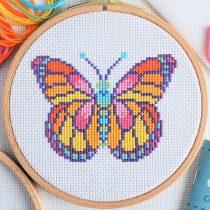 gratis borduurpatroon vlinder