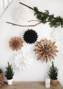 kerststerren maken van papier
