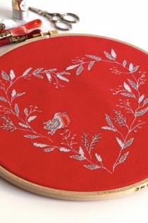 borduurpatroon roodborstje