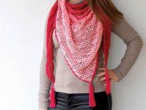 haakpatroon waaier sjaal