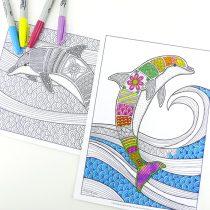 dolfijnen kleurplaat
