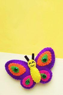 vlinder maken van vilt